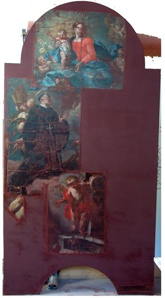 Altarbild Branzoll - vorher